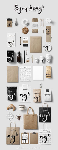 "Symphony Cafe Branding & Logo Design ""Even if we don't drink coffee we still c. - Design // Logos and Branding - Great Logo Design, Design Visual, Inspiration Logo Design, Graphisches Design, Label Design, Design Ideas, Studio Design, Food Design, Visual Communication Design"