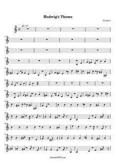 Hedwigs Theme Sheet Music - Hedwigs Theme Score • HamieNET.com