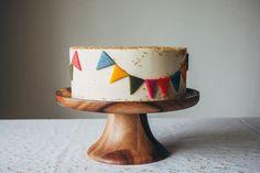 Banner cake.