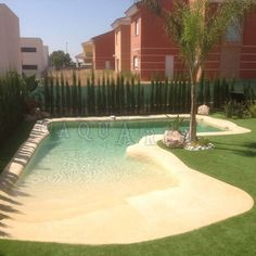 Beach Entry Pool, Backyard Beach, Backyard Pool Designs, Small Backyard Pools, Small Pools, Outdoor Pool, Natural Swimming Ponds, Swimming Pools Backyard, Pool Landscaping