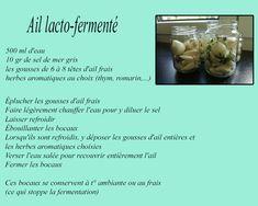 Fresh Garlic, Sea Salt, Herbs, Canning Jars, Food