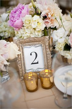 picture frame table numbers