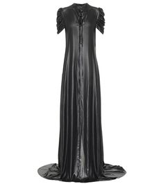 Ann Demeulemeester - Charmeuse satin gown   Mytheresa Gothic Gowns, Off Shoulder Gown, Midi Shirt Dress, Satin Gown, Ann Demeulemeester, Ulla Johnson, Luxury Fashion, Womens Fashion, Street Style