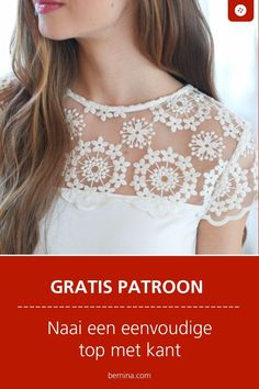 Blouse Pattern Free, Free Pattern, Lace Fabric, Cotton Fabric, Diy Tops, Romantic Lace, Sewing A Button, Free Sewing, Diy Clothes