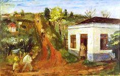 Mogi das cruzes, 1939 Alfredo Volpi (Brasil, 1896-1988) Óleo sobre tela, 54 x 81 cm Museu de Arte Contemporânea – USP  -
