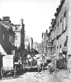 Five Points of Manhattan during the 19th century.  Now Chinatown, this area was previously a notorious slum.
