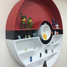 Touch Their Characters with the Full Inspirational of the Best Pokemon Bedroom Ideas « dreamssca Pokemon Room, Pokemon Decor, Video Game Rooms, Boys Bedroom Decor, Bedroom Ideas, Game Room Design, Gamer Room, New Room, Shelves