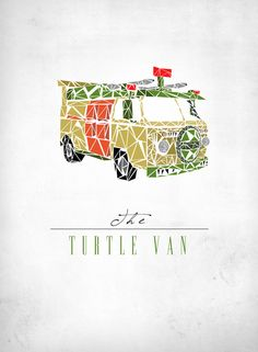 The Turtle Van Art Print by Josh Ln