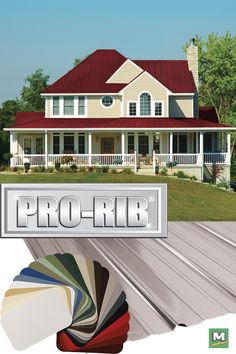 Pro-Rib® is the leading steel panel offered in the post frame industry at a very competitive price. It is better than most of the panels on the market today. Pro-Rib® is also increasing its usage in the residential and light commercial markets. Steel Siding, Steel Roofing, Steel Panels, Fencing, Curb Appeal, Commercial, Industrial, Farmhouse, Exterior