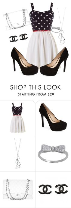 """Black and white"" by owl33546 ❤ liked on Polyvore featuring Jessica Simpson, Fiorelli and Chanel"