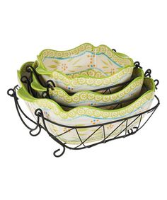 Loving this Lime Old-World Six-Piece Baking & Serving Set on #zulily! #zulilyfinds