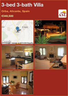 3-bed 3-bath Villa in Orba, Alicante, Spain ►€349,500 #PropertyForSaleInSpain
