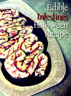 Edible Intestines Recipe.  You've got to save this recipe!!!  It's perfect for a Halloween party!  Gross everyone out with this delicious treat!!