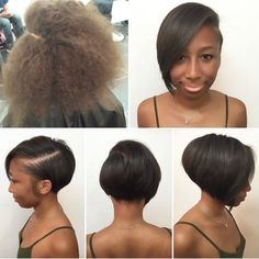 Looking for the best way to bob hairstyles 2019 to get new bob look hair ? It's a great idea to have bob hairstyle for women and girls who have hairstyle way. Short Hairstyles For Women, Afro Hairstyles, Straight Hairstyles, Curly Hair Styles, Natural Hair Styles, Relaxed Hair, Love Hair, Hair Dos, Short Hair Cuts