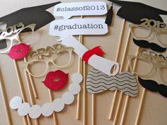 Graduation Photo Booth Props Graduation Photos by ThePropMarket, $34.00