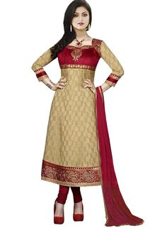 Beautiful Aaysha Chiku Crepe Salwar Suit, #bestseller #amazonIN by #divyaemporio Shop Now : http://www.amazon.in/dp/B01IVUD4US