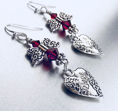 A personal favorite from my Etsy shop https://www.etsy.com/listing/588002029/swarovski-crystal-earrings-silver-heart