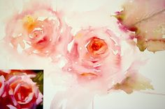 Watercolours With Life: Painting Roses in a Loose Style