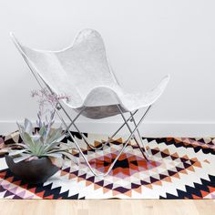 Palermo Butterfly - Gray Cowhide chair.  So stunning.