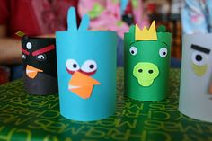 toilet paper tube angry birds craft