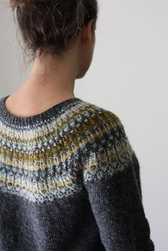 Sweater knitting pattern lunenburg pullover by amy christoffers. Lunenburg pullover is worked from the top down in the round with a bohus-ish stranded Fair Isle Knitting Patterns, Sweater Knitting Patterns, Knitting Designs, Baby Knitting, Knitting Socks, Icelandic Sweaters, Knit Sweaters, Cardigans, Sweater Weather