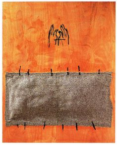 Noise/Admiration: Artwork of the Day Antoni Tàpies Land Art, Art Espagnole, Abstract Expressionism, Abstract Art, Pop Art, Art Prompts, Orange Art, Encaustic Painting, Weird Art