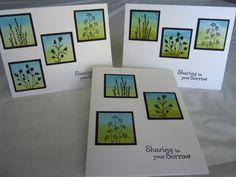 CAS152 Distressed Sympathy cards