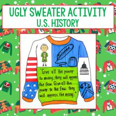 Keep your students engaged before the holiday break with this fun ugly Christmas sweater activity. Students will think critically about their chosen or assigned American historical figure as they apply their knowledge to design a custom ugly sweater. Before getting started with the design process, s... Ugly Holiday Sweater, Ugly Sweater, Christmas Sweaters, Early Finishers Activities, Fun Activities, Samuel Morse, Booker T, Holiday Break, Rosa Parks