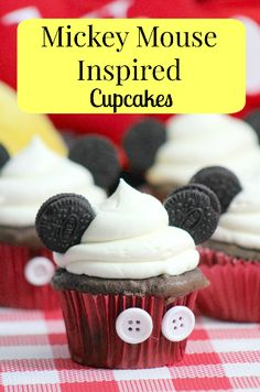 amazing kid-friendly recipe for DIY Disney Mickey Mouse Inspired Cupcakes Food Recipe Tutorial