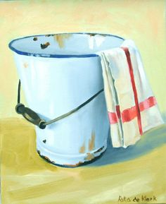 Old Bucket by Rika De Klerk Bucket Drawing, Still Life Oil Painting, Still Life Art, Art And Architecture, Painting Inspiration, Art Pictures, Ariel, Painting & Drawing, Watercolors