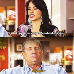 I think this is my favorite scene in Modern Family ~ How do you say in English…