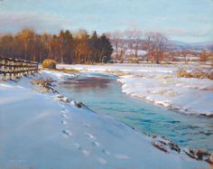 portfolio of the oil landscape paintings and prints of artist John MacDonald of the Berkshires in Williamstown Massachusetts. Abstract Landscape Painting, Landscape Art, Landscape Paintings, Painting Snow, Winter Painting, Amazing Paintings, Fantasy Paintings, John Mcdonald, Large Scale Art