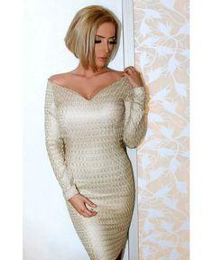 Дамска рокля от плетиво Mon Cher