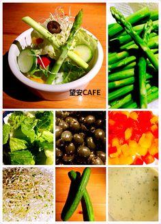0625。薄荷優格輕食沙拉 雖是主廚套餐的前菜 每天六樣新鮮的蔬菜 佐自製薄荷優格沙拉 希望您看到我們用心 食用安心大家也開心