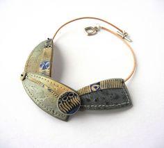 """African Indigo"" - polymer clay necklace by Sonya Girodon."