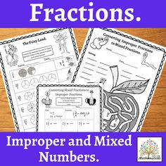 14 Improper Fraction & Mixed Numbers activities and worksheets. These fraction tasks use a variety of different ways to challenge and engage your students in practicing identifying improper and mixed fractions, converting fractions from improper to mixed fractions and mixed fractions to improper fractions.