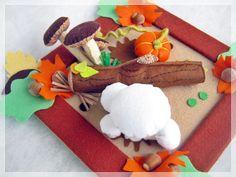 A gombák földjén- asztal dísz, Otthon, lakberendezés, Dekoráció, Dísz, Ünnepi dekoráció, Meska Gingerbread Cookies, Desserts, Paper Board, Gingerbread Cupcakes, Tailgate Desserts, Deserts, Postres, Dessert, Plated Desserts