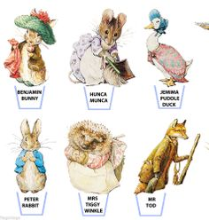 PETER RABBIT ♥ BEATRIX POTTER ♥ 25 x STAND UP ♥ EDIBLE WAFER PAPER CAKE TOPPERS