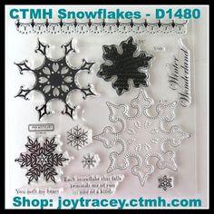 CTMH Snowflakes Stamp Set #D1480 (coordinates with Art Philosophy Cartridge)