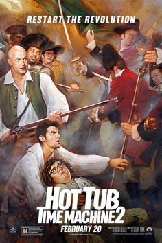 'Hot Tub Time Machine 2' Paints Three Historical Portrait Posters
