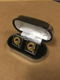 Steel cufflinks with