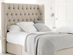 Bedroom Padded Headboard King With Tufted King Headboard And from King Size Bed With Padded HeadboardKing Size Bed with Ikea Headboard, Gray Upholstered Headboard, King Size Bed Headboard, Quilted Headboard, Headboard Cover, Cushion Headboard, Headboard Ideas, Tufted Bed, Pillow Mattress