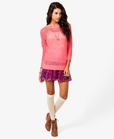 Open Knit Sweater | FOREVER21 - 2021839302
