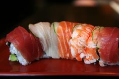 6 Sushi orders under 350 calories. My fave, the Rainbow Roll, made the list!
