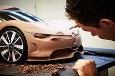 Renault Alpine A110-50, 2012 - Design Process - Clay modeling