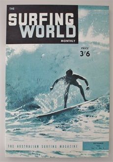 This vintage surfing poster is a copy of the 1st ed. of the Aust. Surfing World Magazine from Sept '62. Available from Coast furniture and Interiors.