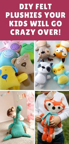 You are going to love this collection of felt toy patterns! You'll find the sweetest plushies ever and lots to choose from. We've included free patterns and video tutorials too!
