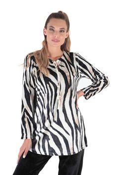 Claire Katrania Homewear Βελουτέ Zebra Print
