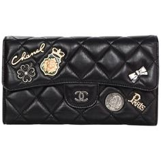 9b1d15a92d12 Chanel Limited Edition Quilted Calfskin Lucky Charms Flap Wallet