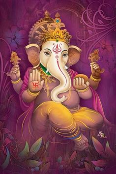 Lord Ganesha is one of the most popular Hindu deity. Here are top Lord Ganesha images, photos, HD wallpapers for your desktop and mobile devices. Ganesh Lord, Jai Ganesh, Ganesh Idol, Shree Ganesh, Shiva Art, Ganesha Art, Krishna Art, Shri Ganesh Images, Ganesha Pictures